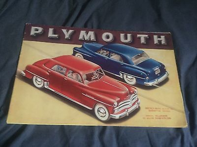 1950 Plymouth Special Deluxe Large Color Brochure Prospekt