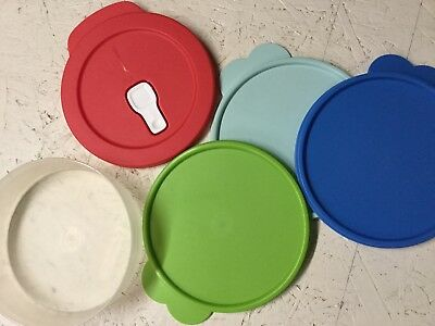 "Tupperware ~ Replacement Lid / Seal ~ ""C"" #2541,And (1) 3 Cup Flat Out Bowls 6"""
