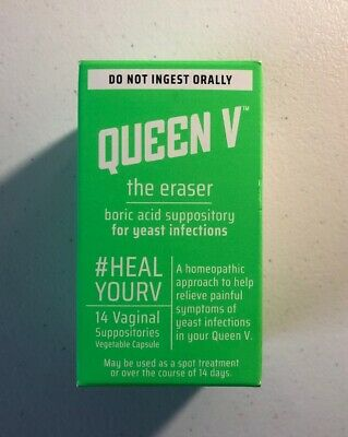 Queen V The Eraser Yeast Infection Treatment | Boric Acid | 14 Vaginal Suppos...