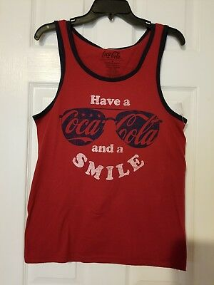 0437129e467ce COCA COLA SUNGLASSES Tank White Red Blue Size L -  4.99