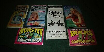 Myrtle Beach SC Coupon Books Maps Guides Save$$ 2019 Season Restaurants Golf BIN