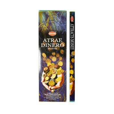 HEM Attracts Money Incense Sticks - 200 Sticks - Bulk Pack - Made In India