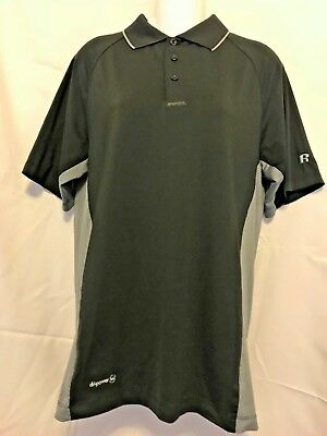 e62b07e5 Russell Training Fit Shirt S 34/36 Dripower 360 Vented Short Sleeve Black  Silky