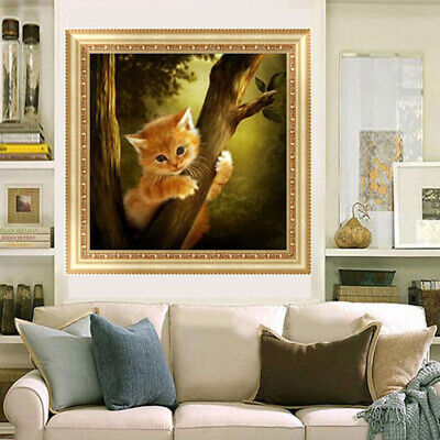 5D Diamond Embroidery  Naughty Cat Painting Cross Stitch Home Decor