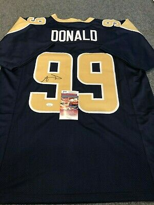 30d3a3b9122 AARON DONALD SIGNED / Autographed Rams Color Rush Jersey JSA Witness ...