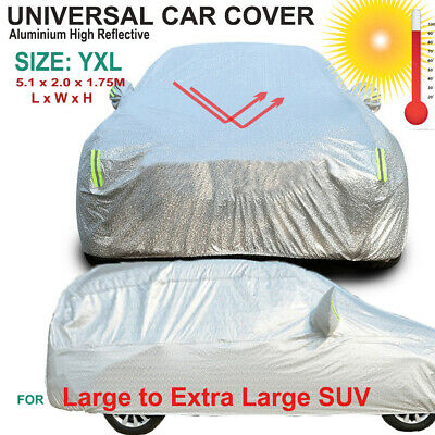 Universal Aluminium Car Cover Rain/UV/Dust Resistant YXL for Large SUV MPV