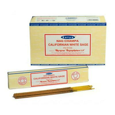 Satya Californian White Sage Incense Sticks - 180 Grams - Premium Bulk Incense