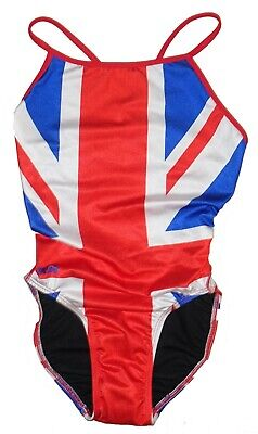 280a4348ff Splish Womens one-piece swimsuit size 30 Union Jack British Flag NEW with  tags