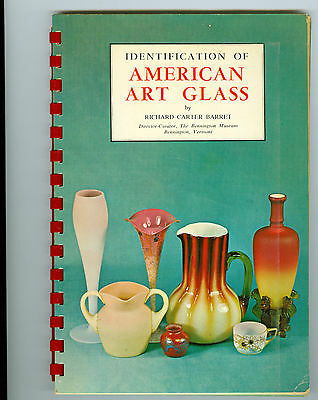 1964 Identification of American Art Glass by Richard Barret Color Plates