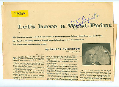 2 Diff SIGNED Oct 29 1959 Senator Stewart Symington 1st Secy of US AIR FORCE