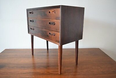 Danish Mid-Century 3-Drawer Rosewood Chest Of Drawers, 1960s.
