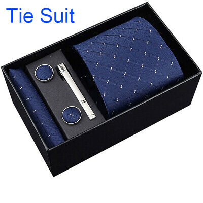 145cm*8cm men ties set Necktie navy blue Paisley Silk Jacquard Woven Neck Tie