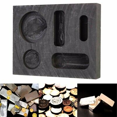 Graphite Casting Ingot Bar Melting Mold Refining Scrap For Copper Silver Gold UK