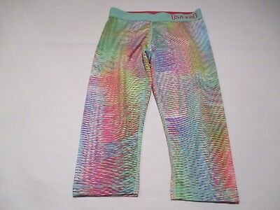 Usa Pro Fab Multi Colour Mix Soft Jersey Casual 3/4 Bottoms Trousers Age 11 - 12