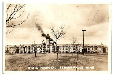 1930 RPPC State Hospital, Fergus Falls, MN Real Photo Postcard *5C