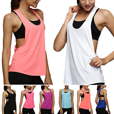 Canotta Donna Workout Canottiera T-Shirt Palestra Sport Vestiti Fitness Yoga