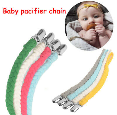 Baby Kids Pacifier Chain Holder Dummy Feeding Teether Pacifiers Clip Nipple Gift