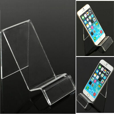 1pcs Acrylic Mobile Phone Display Stand Mount Holder Rack Bracket Show Stands
