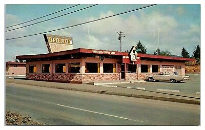 1960s/70s Coo Coo Clock Restaurant, Oceanlake, OR Postcard