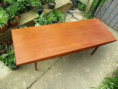 Fab Gordon Russell Vintage Retro MCM Teak Long John Coffee Table Trevor Chinn