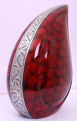 Large cremation Urn for Ashes Adult Funeral Memorial urn Teardrop Urn Red Blue
