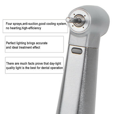 Updated Dental 1:5 Increasing LED Fiber Optic Contra Angle Handpiece E-type 2019