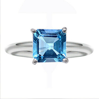 Natural Swiss Blue Topaz 925 Sterling Silver Ring Jewelry Size 6-9 DGR6018_A