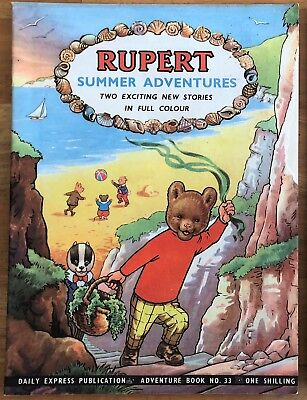 RUPERT Adventure Series Number 33 Rupert Summer Adventures June 1957 VG/FINE