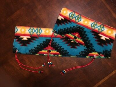 """66/"""" x 5/"""" Coral Southwest Bow Sock Sleeve Recuver Traditional Archery Hunting"""
