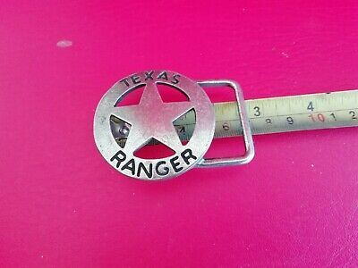 Vintage Texas Ranger Star Metal Belt Buckle  Free World Wide Shipping