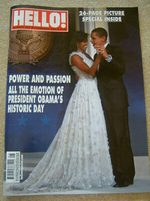 NEW hello magazine, BARACK OBAMA'S historic day 2009