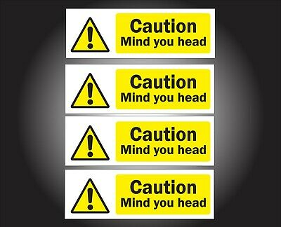 Caution Mind Your Head Sign Sticker Health And Safety Warning Sign