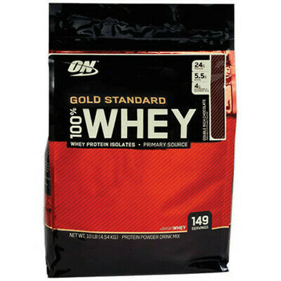 OPTIMUM NUTRITION 10lbs 4,5kg 100% WHEY - GOLD STANDARD PROTEIN - Fast shipping