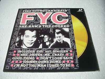 FINE YOUNG CANNIBALS / THE RAW & THE COOCKED Europe Laserdisc Pal version