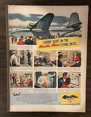 1945 MARTIN AIRCRAFT Print Ad Excellent Color (PH1)