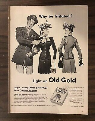 1945 OLD GOLD CIGARETTES Print Ad  (PH1)
