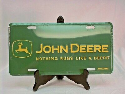 "John Deere Green License Plate, ""Nothing Runs Like A Deere"""