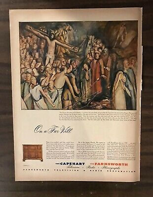 1945 CAPE HEART TELEVISION Print Ad Excellent Color (PH1)
