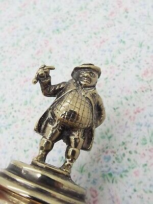 Antique Silver Plated Game Keeper Miniature Figure