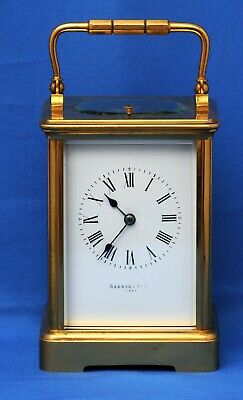 French Repeater Carriage Clock  Barnes And Son Paris In Good Working Order