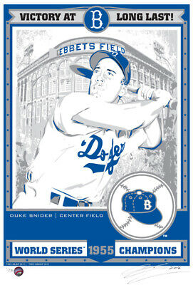 3ab211612 Duke Snider 1955 World Series Champions LE Serigraph Print - Brooklyn  Dodgers