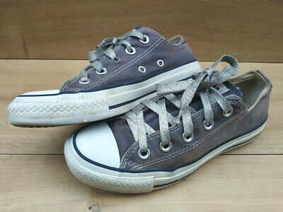 Girls Womens Converse All Star Classic Purple Canvas Trainers size 3 uk eu 35