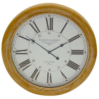 NEW 78cm Natural Clement Round Clock - The Medford Collective,Clocks