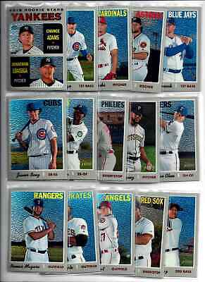 2019 Topps Heritage Base Chrome Singles: Complete Your Set You Pick /999