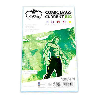 Ultimate Guard 100 Comic Book Bags (Big Current Size) - Comic Storage Protection