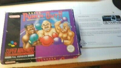 SUPER PUNCH OUT!!! SNES Nintendo Box - Solo Scatola -