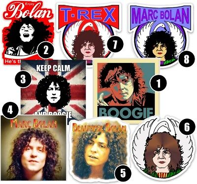 Marc Bolan T.rex Viny Decal Stickers - Buy 2+ For Free P&P On All Extras