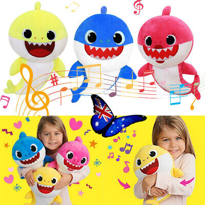 Baby Shark Plush Toys Singing English Song Music Plush Dolls with LED Lights AU
