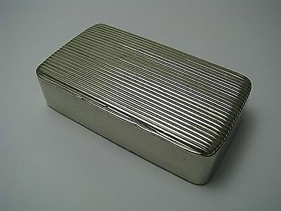 SILVERPLATE BOX SILVER PLATED SNUFF BOX SNUFFBOX by BA TA England ca1900s Used