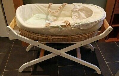 ISABELLAALICIA UNDRESSED MOSES BASKET WICKER NATURAL ECO HAND WOVEN FREE Mat